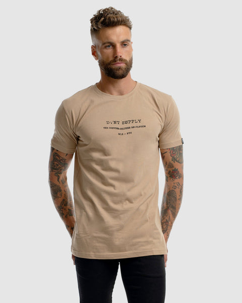 mens camel t-shirt