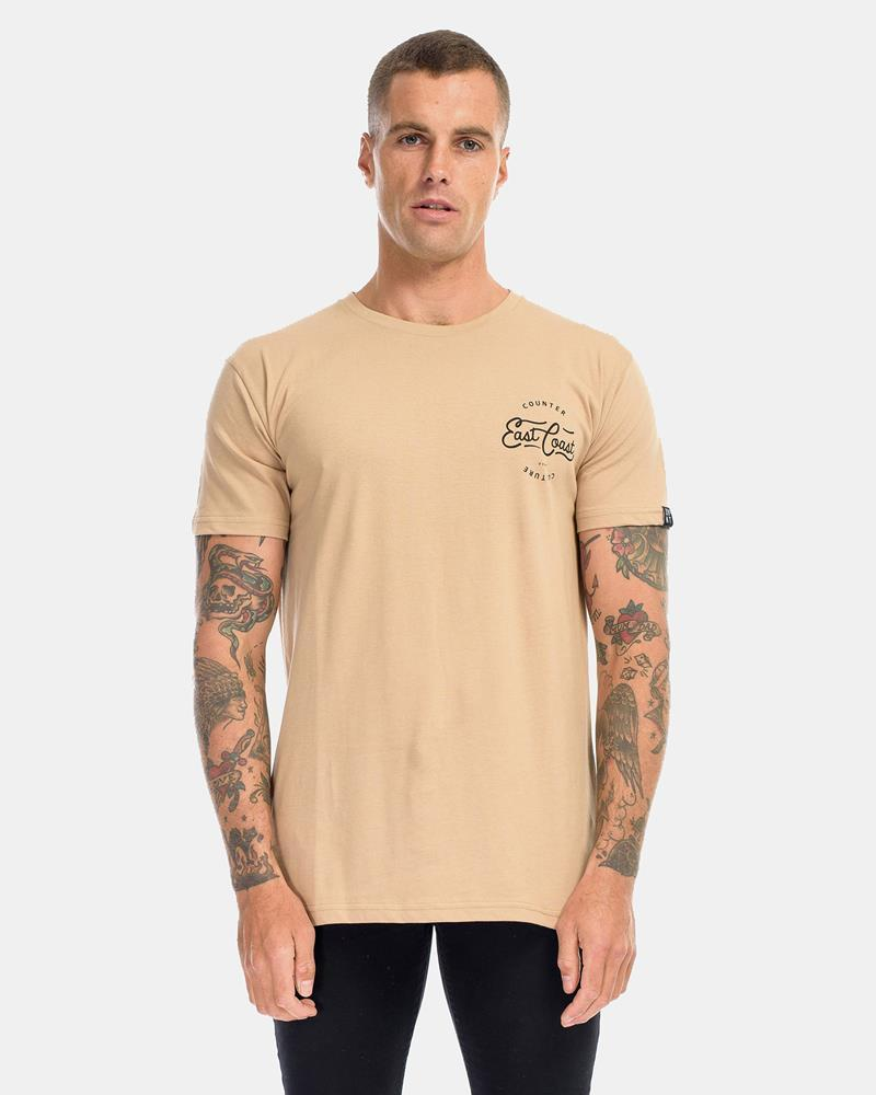 EASTSIDE TEE - CAMEL