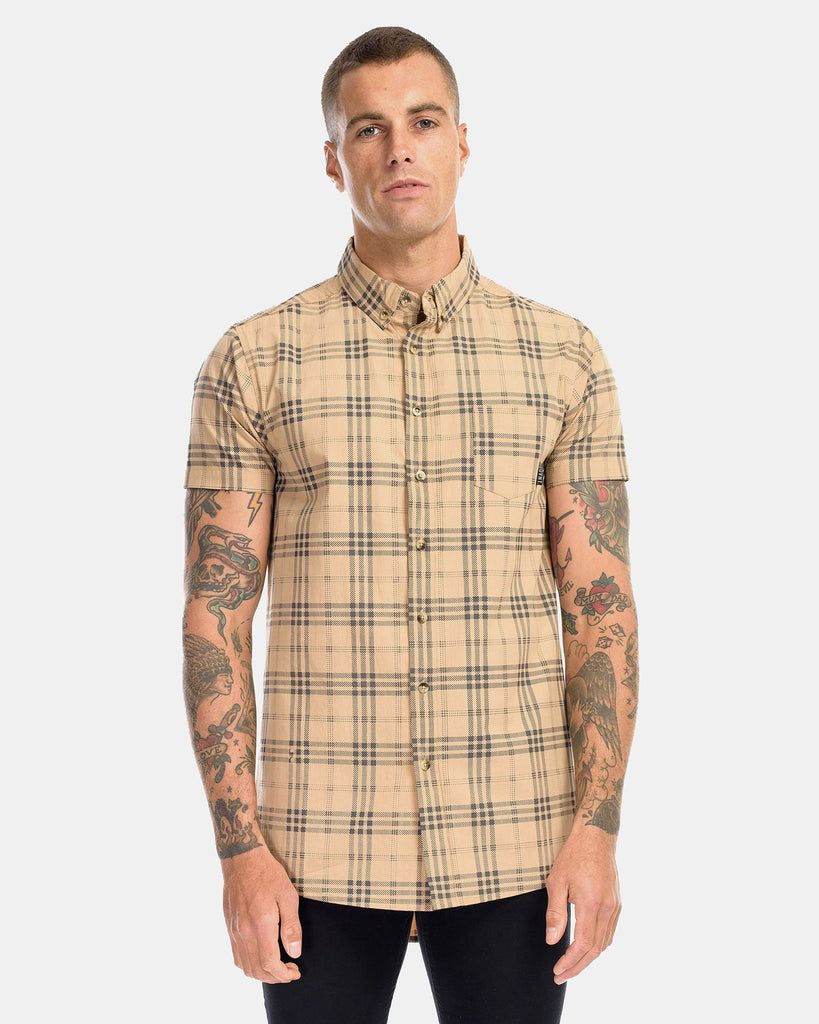 BROOKLYN DRESS SHIRT - CAMEL