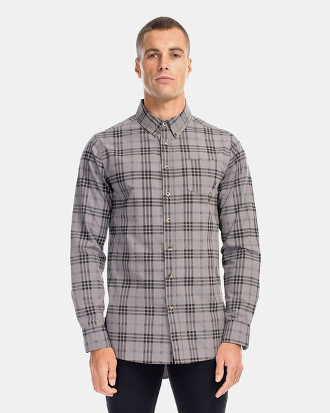 BROOKLYN LS DRESS SHIRT - CHARCOAL