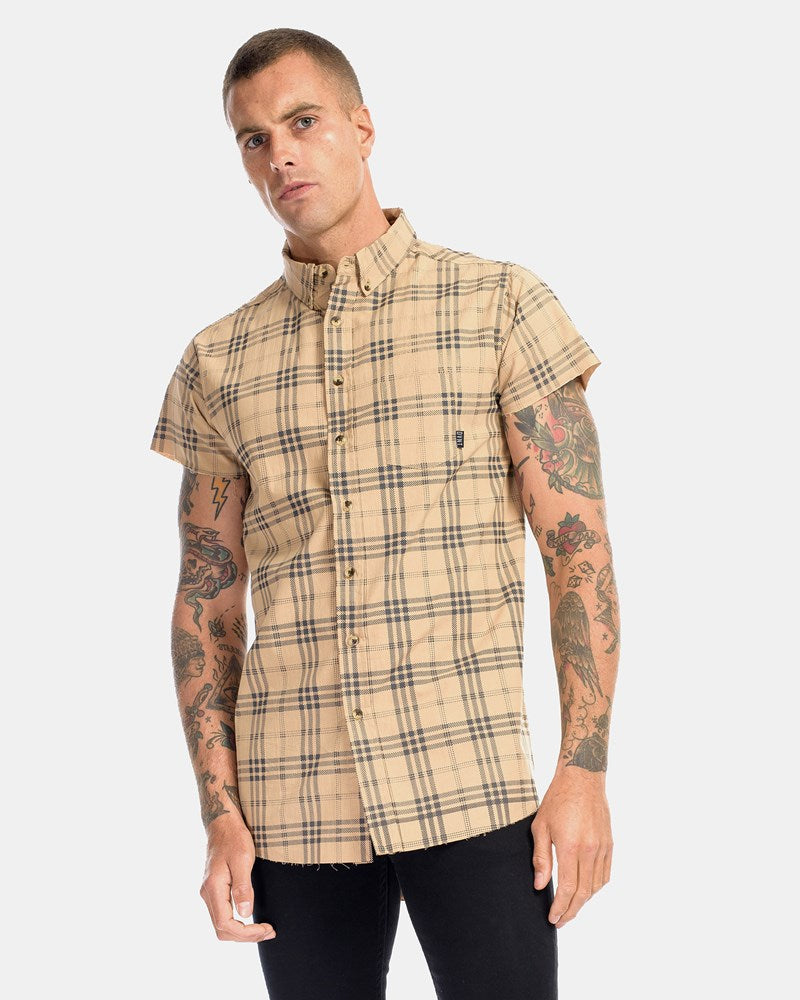 Brooklyn Cut Off Shirt - Camel
