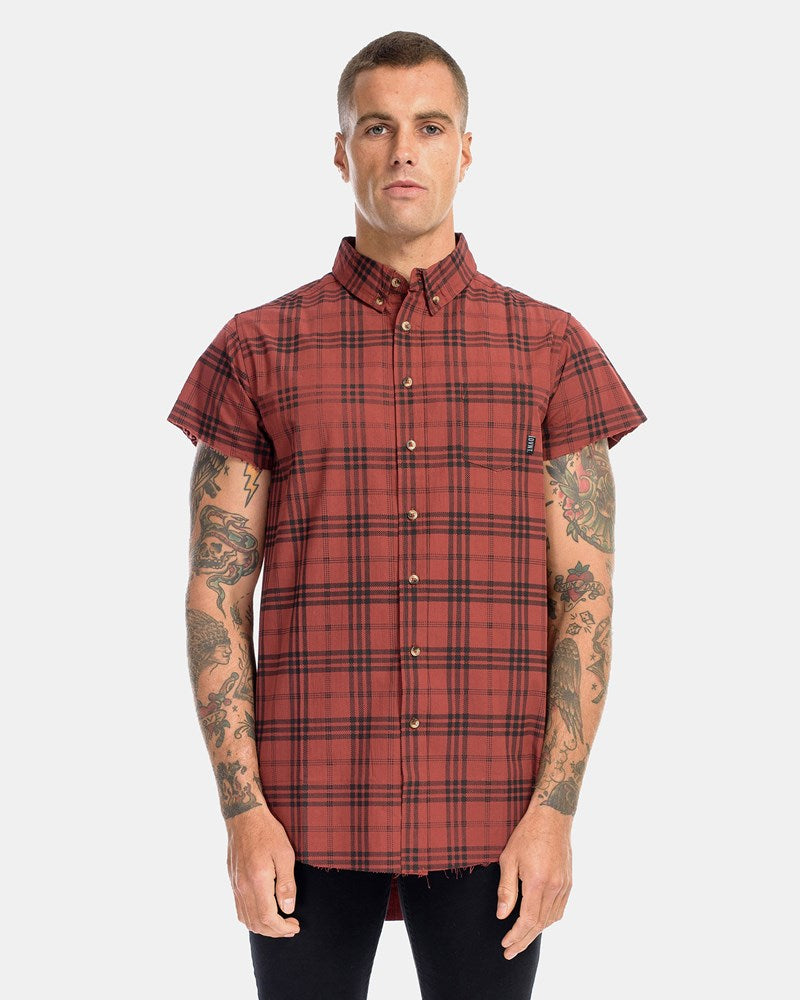 BROOKLYN CUT OFF SHIRT - RUST