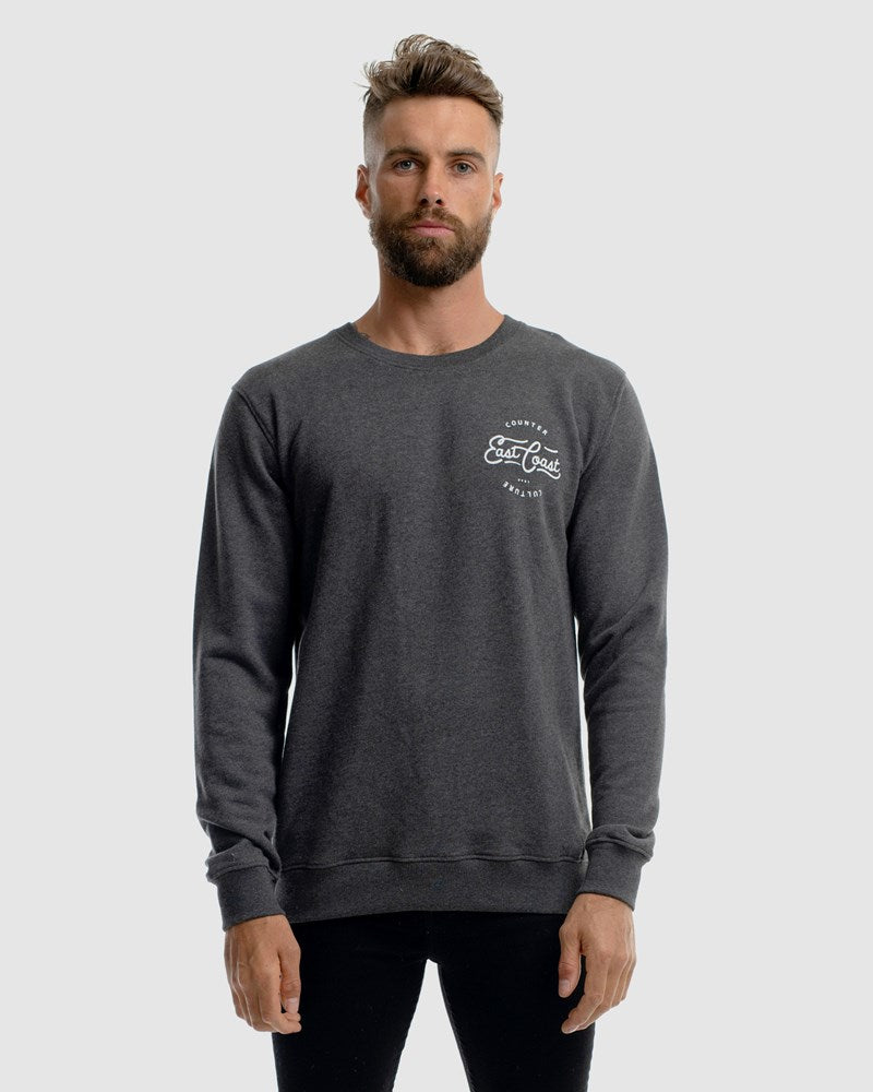 EASTSIDE CREWNECK - CHARCOAL MARLE