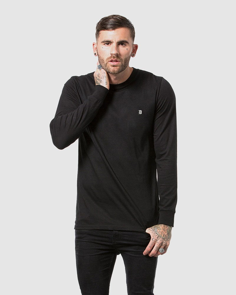 Classic Embroidery Long Sleeve Tee