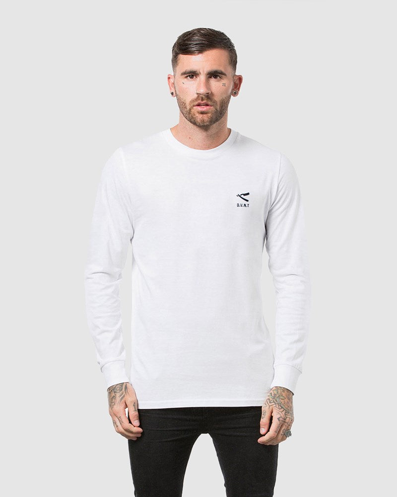 Cut Throat Embroidery Long Sleeve Tee