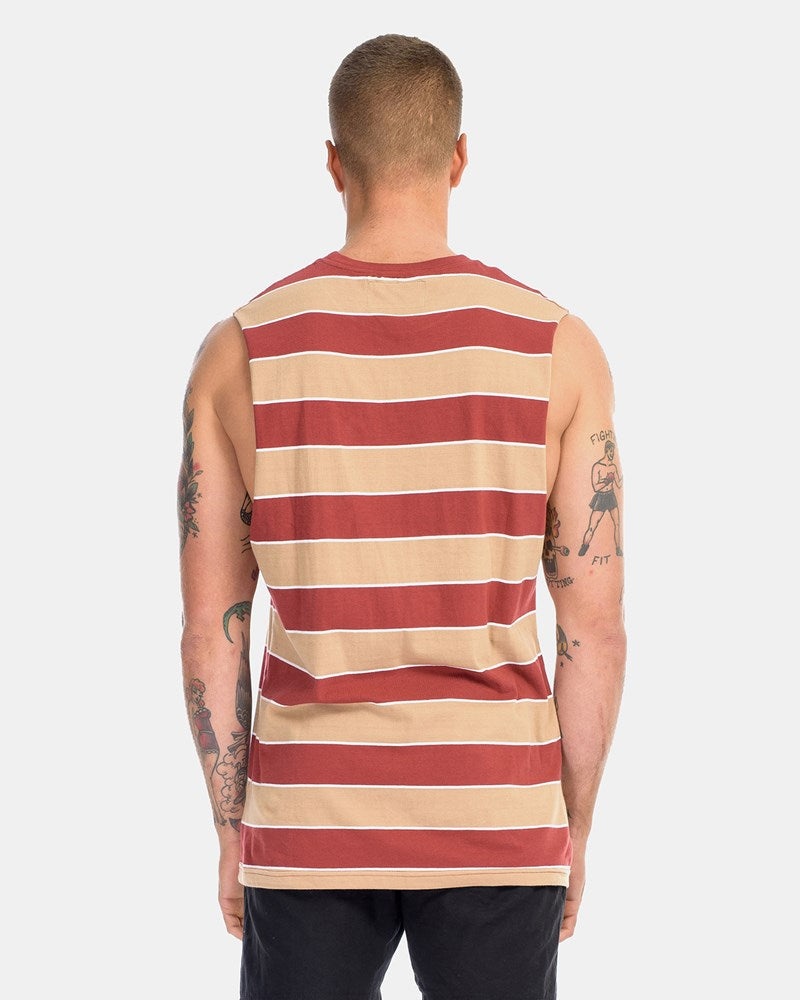 SUPERIOR STRIPE TANK - BURNT CARAMEL