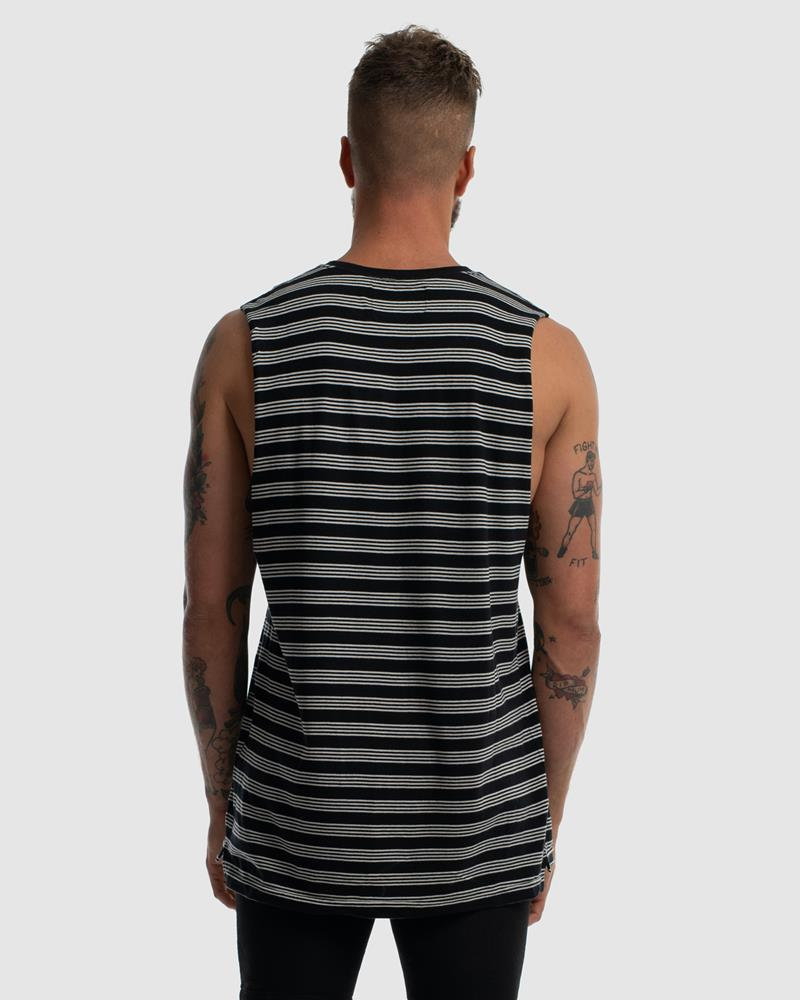 SUPERIOR DEVOID TANK - STRIPE QUAD BLACK