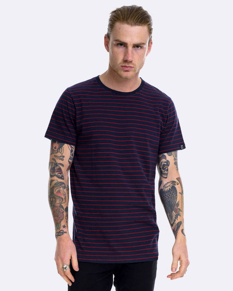 SUPERIOR STRIPE TEE - INK/OX