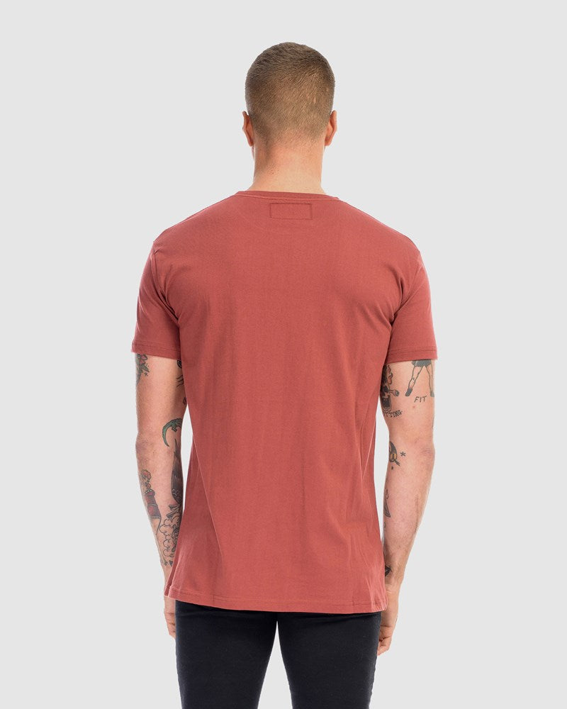 2 Pack Saxon Embroidery Tee - Black & Rust