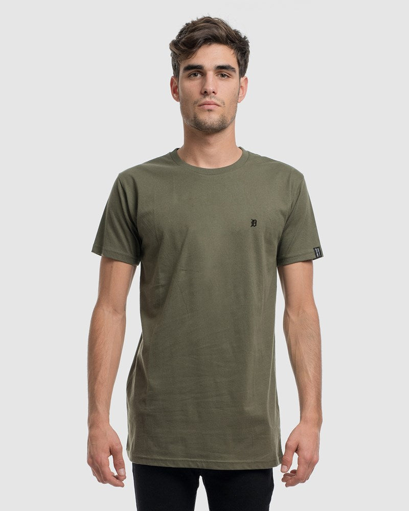 2 Pack Classic Embroidery Tee - Olive & Sports Grey
