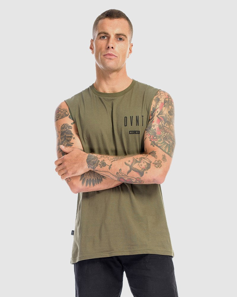 3 Pack Framed Tank - Camel, Olive & White