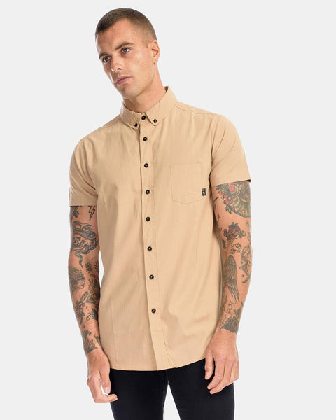 CAMEL DRESS SHIRT - CAMEL