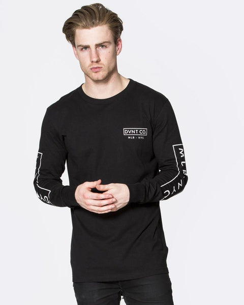 NYC LONG SLEEVE TEE - BLACK