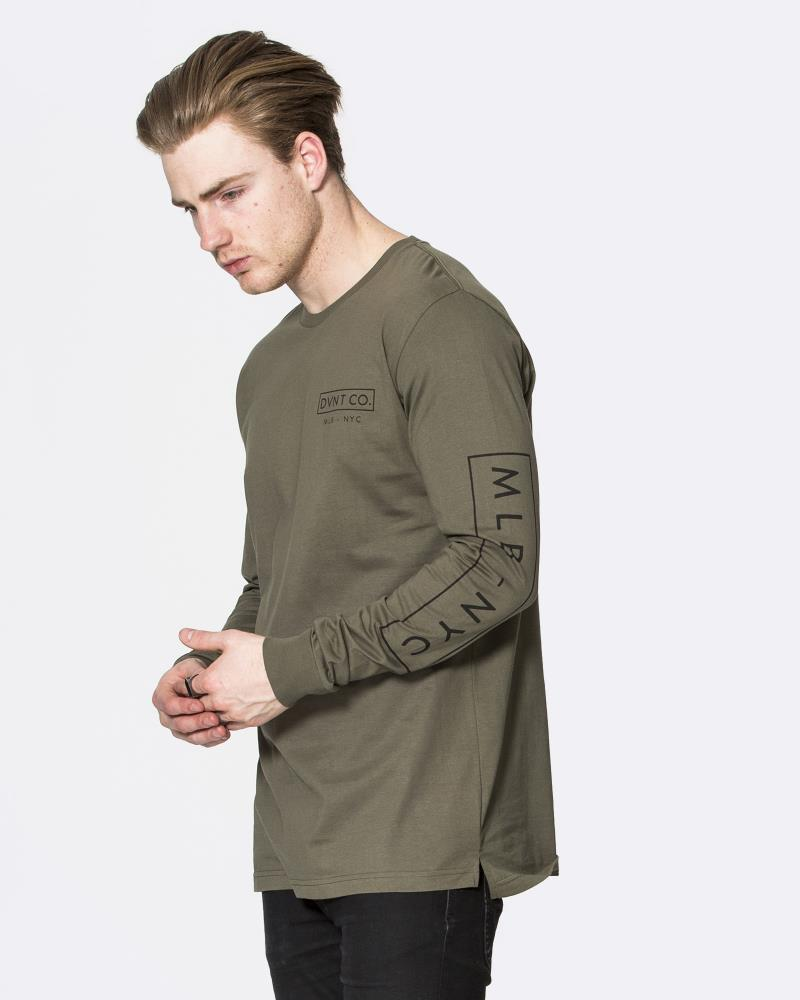 NYC LONG SLEEVE TEE - OLIVE
