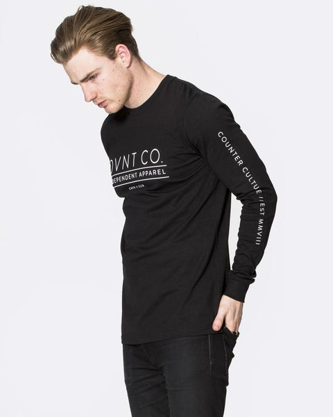 CULTURE LONG SLEEVE TEE - BLACK