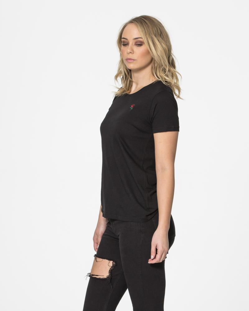 Autumn Rose Tee - Black