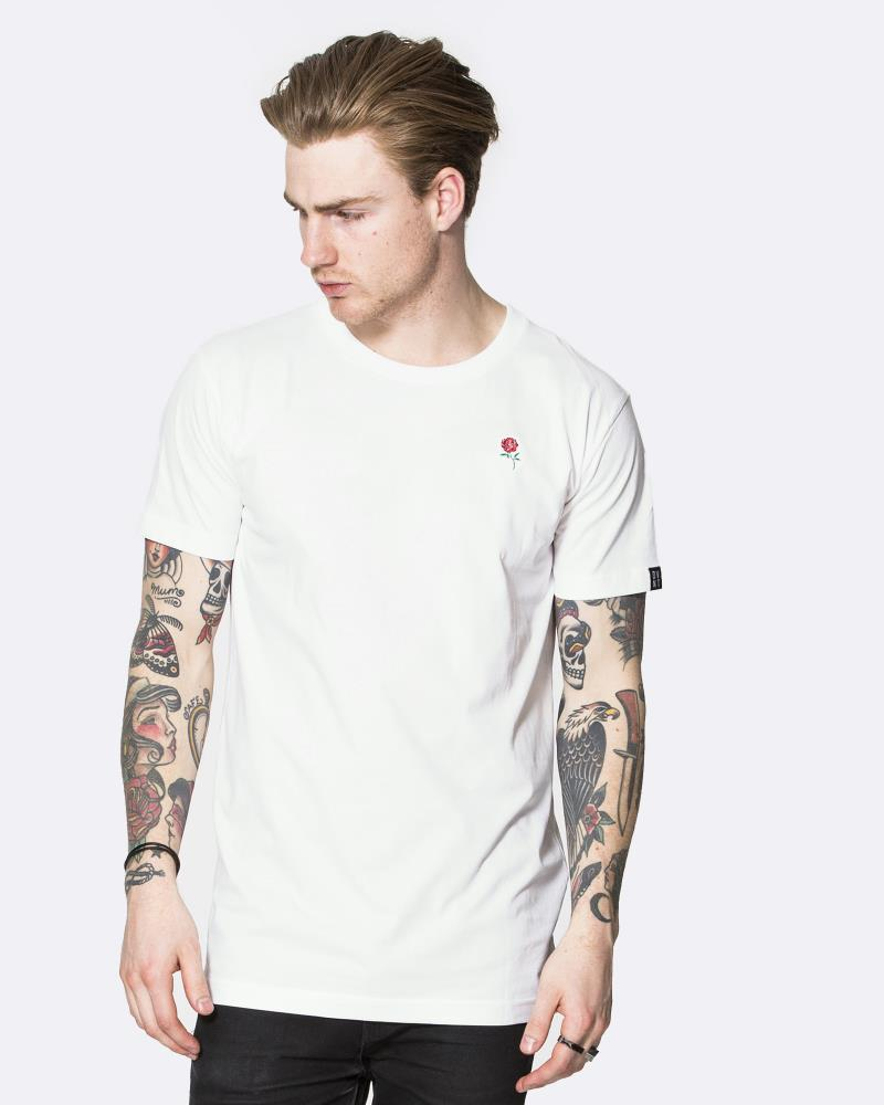 Autumn Rose Tee - White