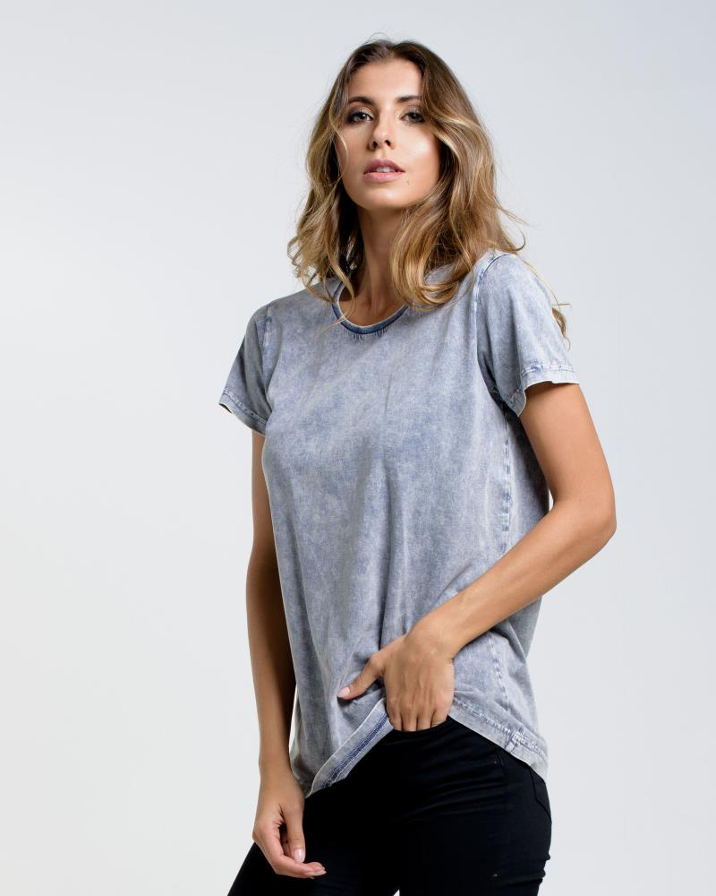 WOMENS DEVOID STANDARD TEE - STORM WASH