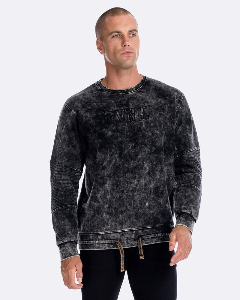 CROSSOVER CREWNECK - TEXTURED ACID WASH