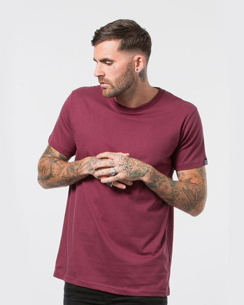 DEVOID PREMIUM TEE - OXBLOOD