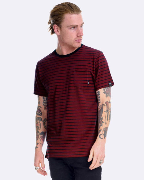 SUPERIOR DEVOID TEE - STRIPE OX/INK