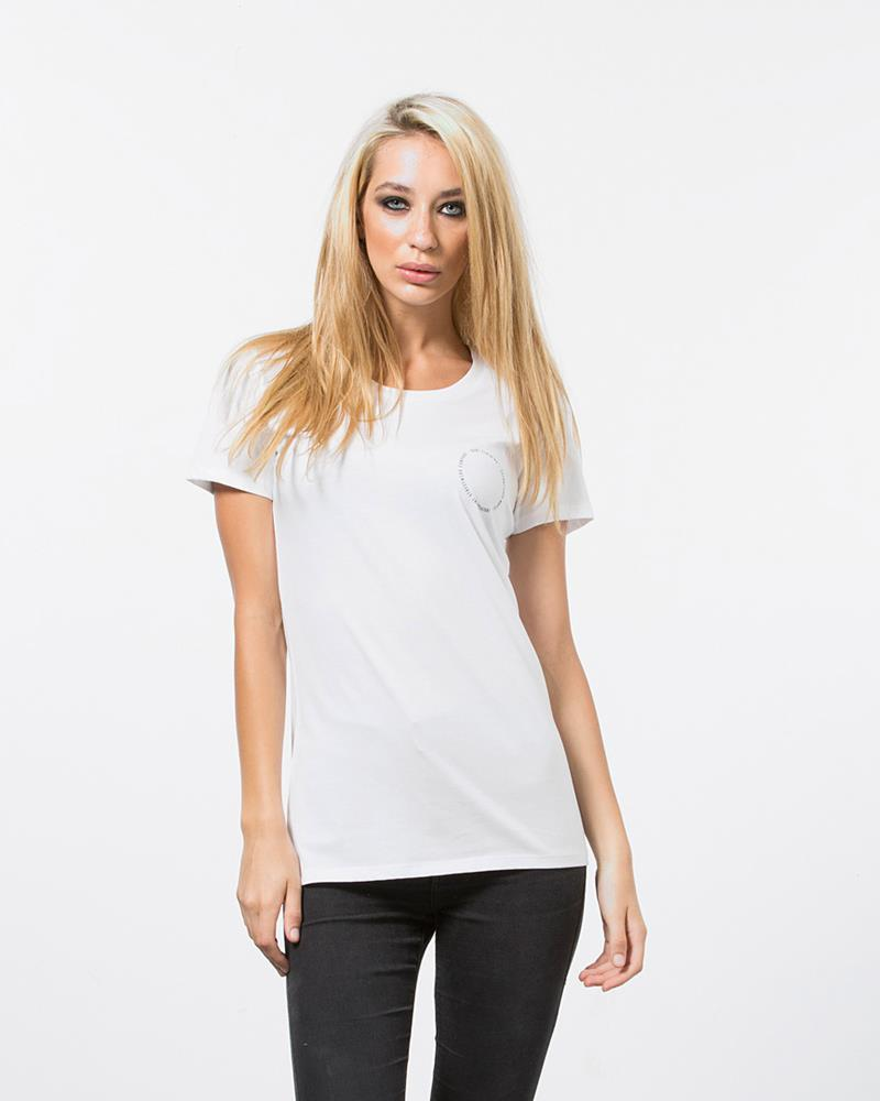 CIRCLE CREST TEE - WHITE
