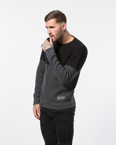 Parallel Knit - Grey/Black