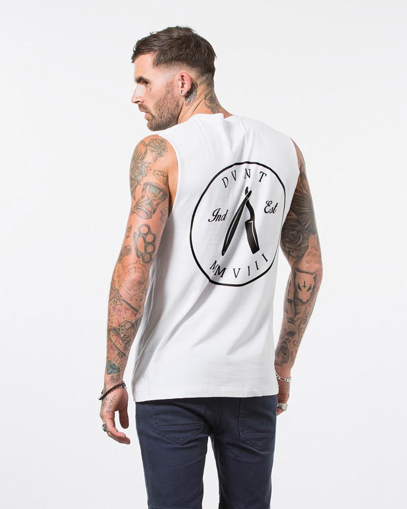 Cut Throat Tank - White