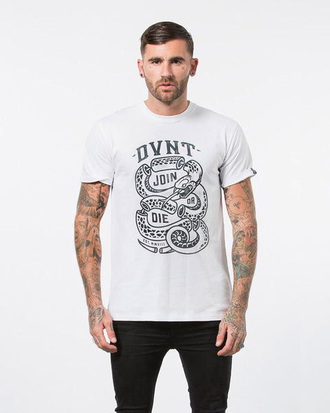 MENS JOIN OR DIE TEE - WHITE