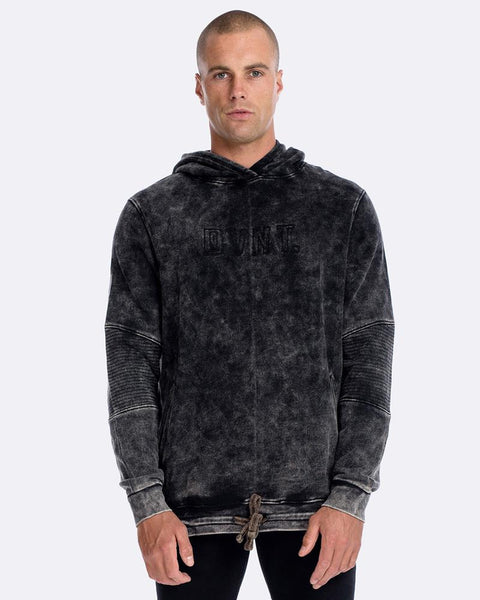 CROSSOVER HOODIE - TEXTURED ACID-WASH