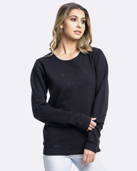 SELECT EMBROIDERY CREWNECK - BLACK
