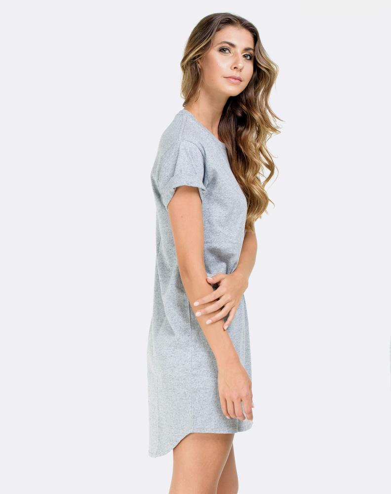DROP DRESS - GREY SPECKLE