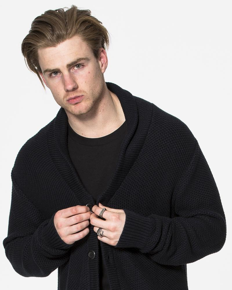 MENS TALL CARDIGAN