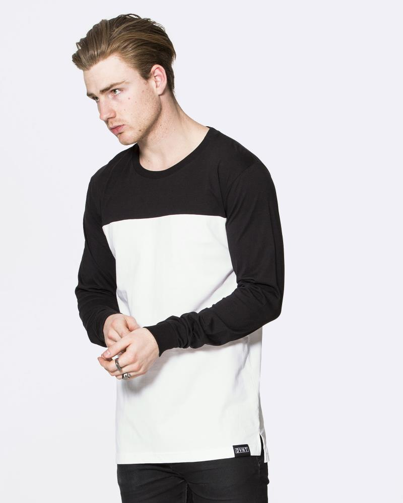 Two Tone Long Sleeve - White/Black