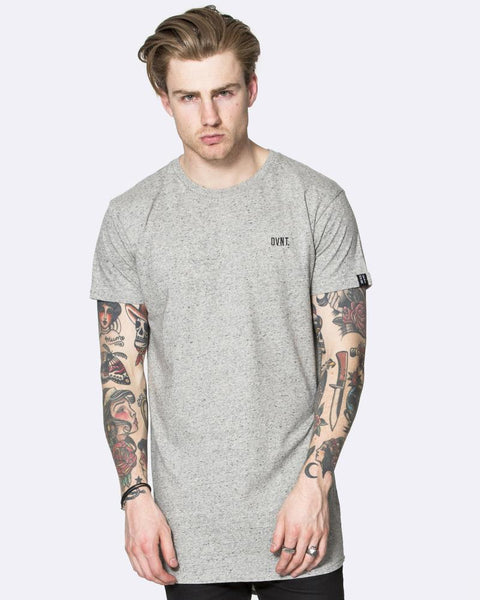 DROP TEE - GREY SPECKLED