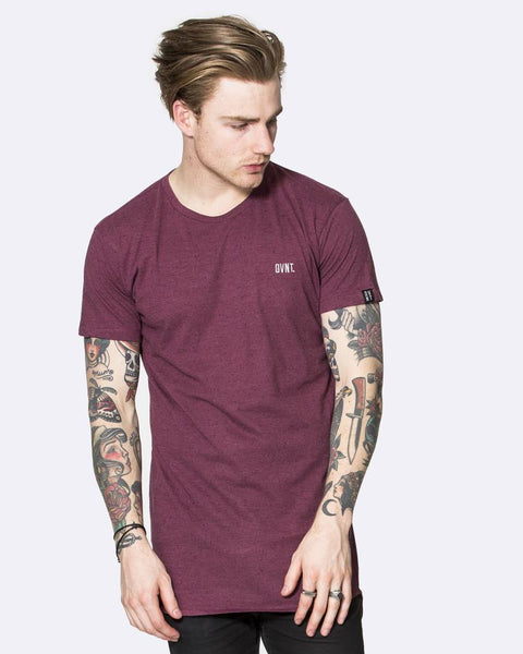 DROP TEE - OXBLOOD MARLE