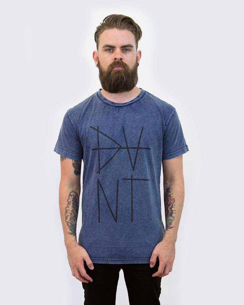 SCRATCH TEE - NAVY WASH