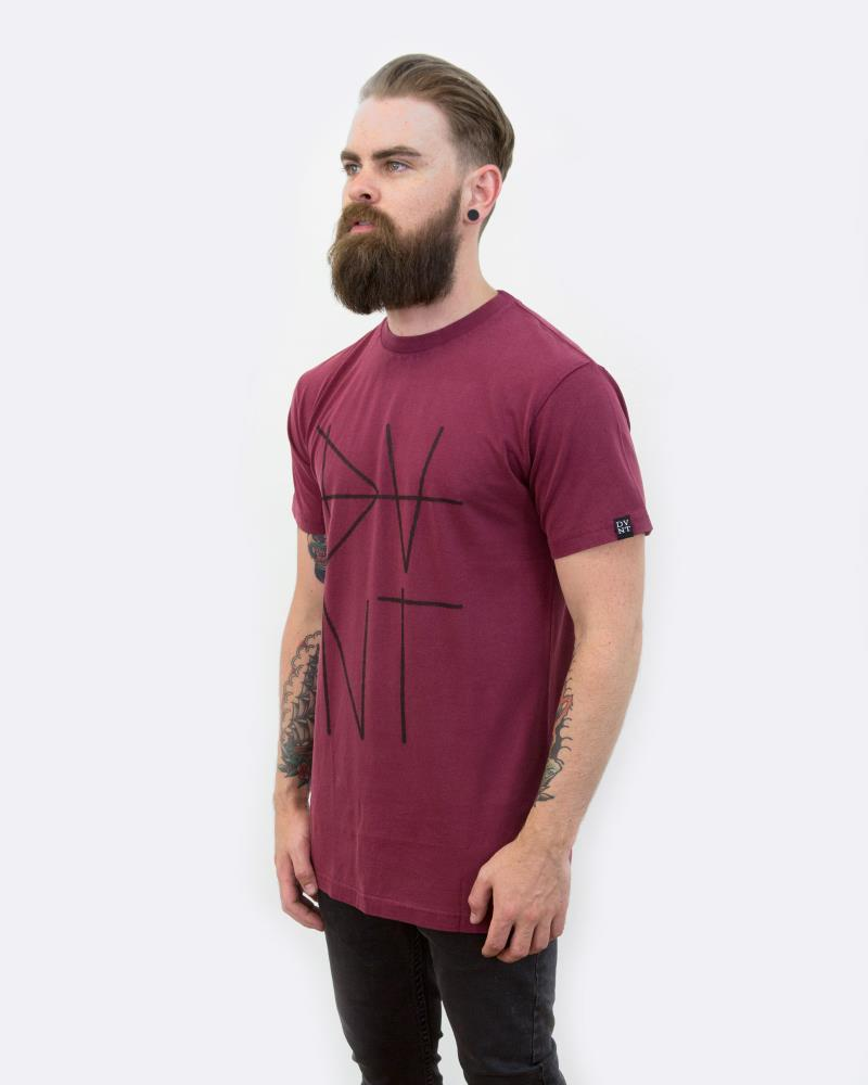 SCRATCH TEE - OXBLOOD
