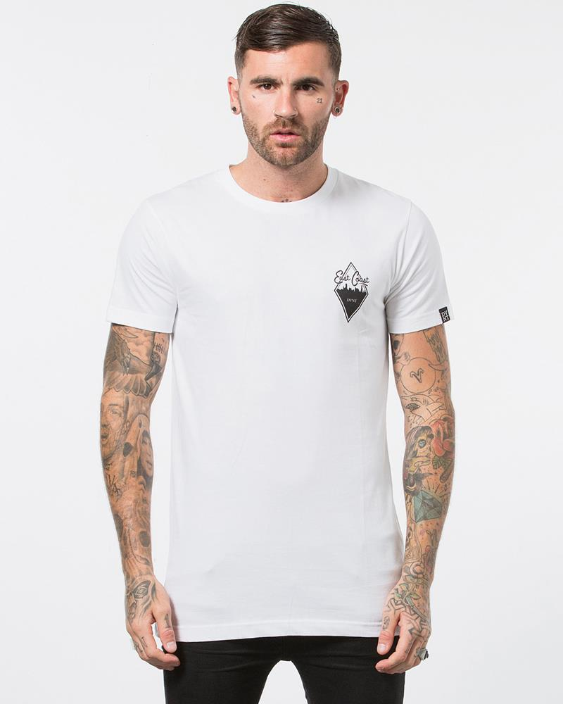 MENS DIAMOND TEE - WHITE