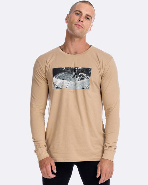 BONES BOWL TEE - CAMEL LONG SLEEVE
