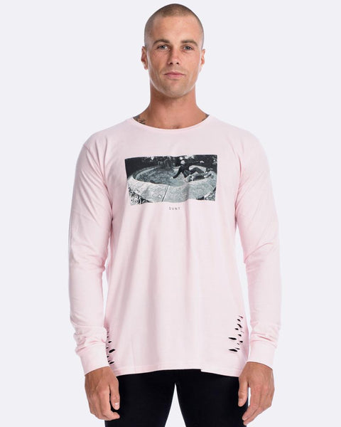 BONES BOWL LS TEE - DISTRESSED MUSK