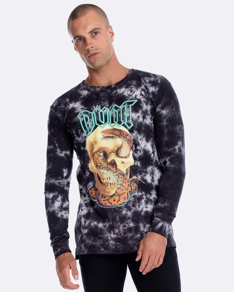 SERPENT LONG SLEEVE TEE - BLACK STORM