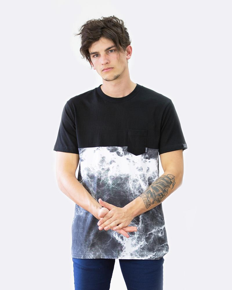 SMOKE POCKET TEE - BLACK