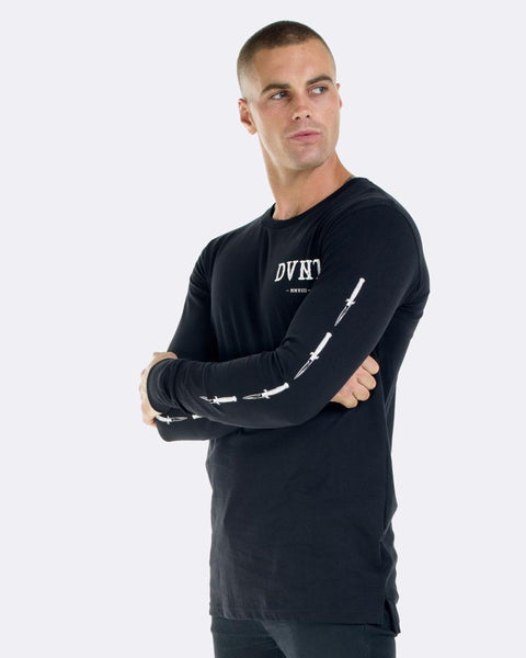 SWITCHBLADE LONG SLEEVE TEE - BLACK
