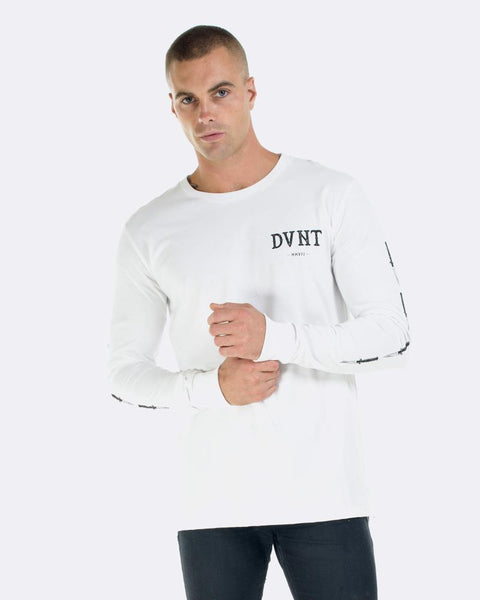 SWITCHBLADE LONG SLEEVE TEE - WHITE