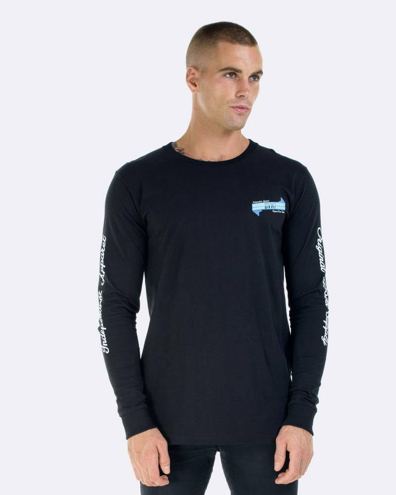 BANNER LONG SLEEVE TEE - BLACK