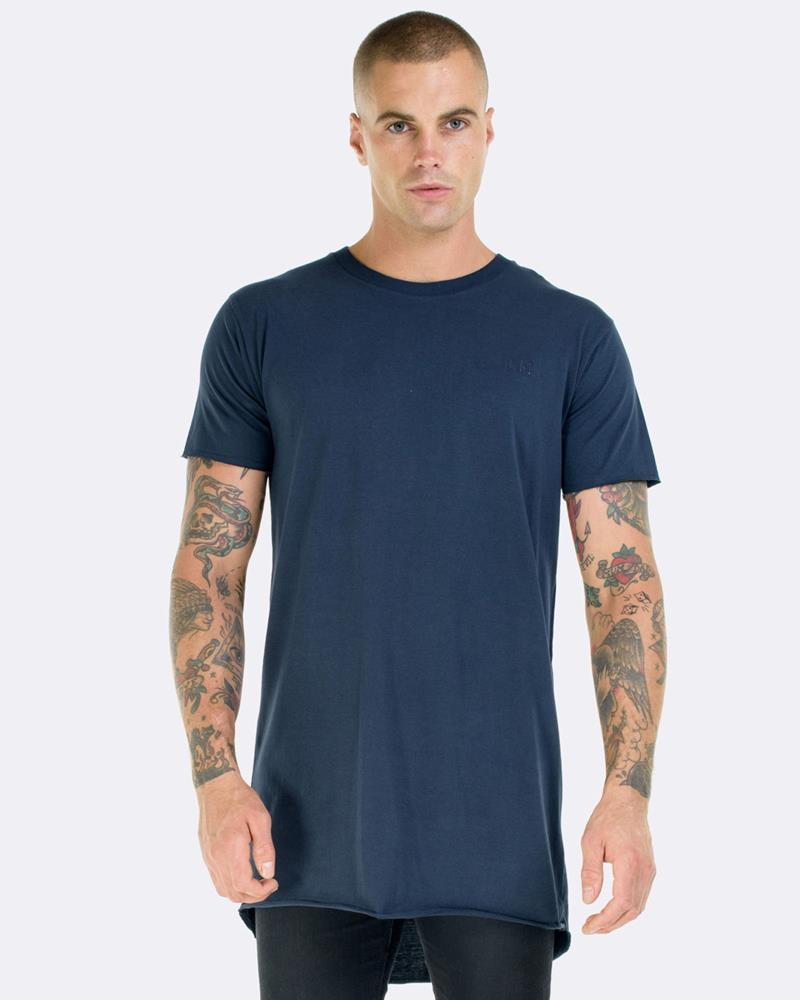 RAW HEM DROP TEE - INK