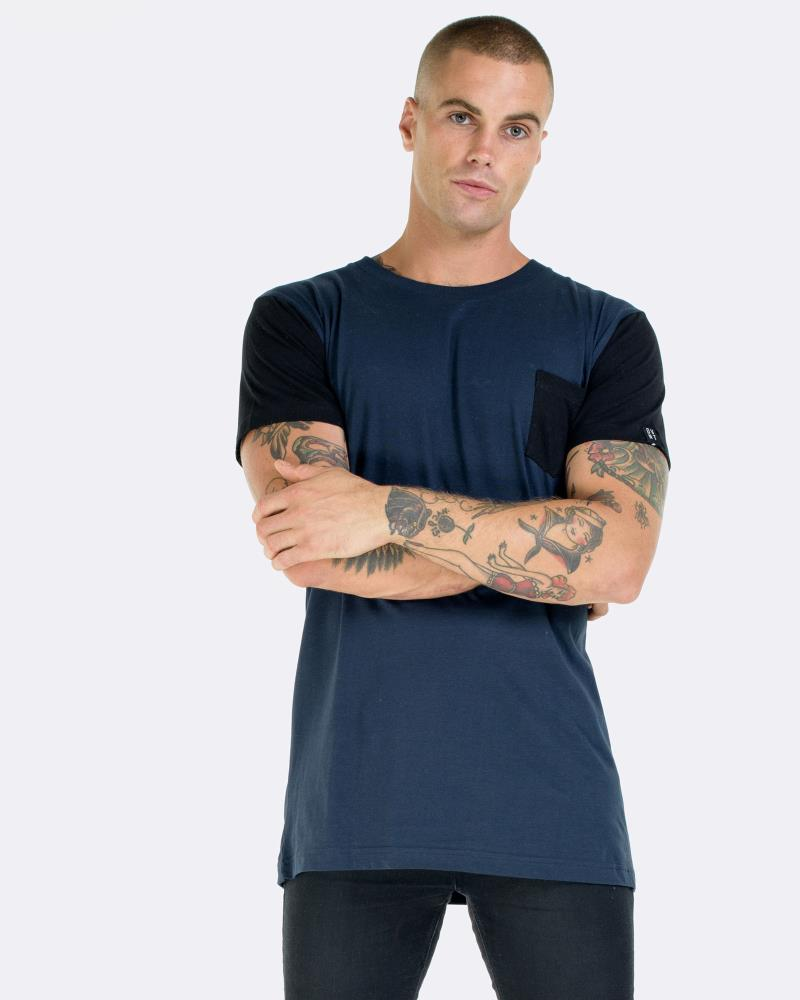 CONTRAST POCKET TEE - INK