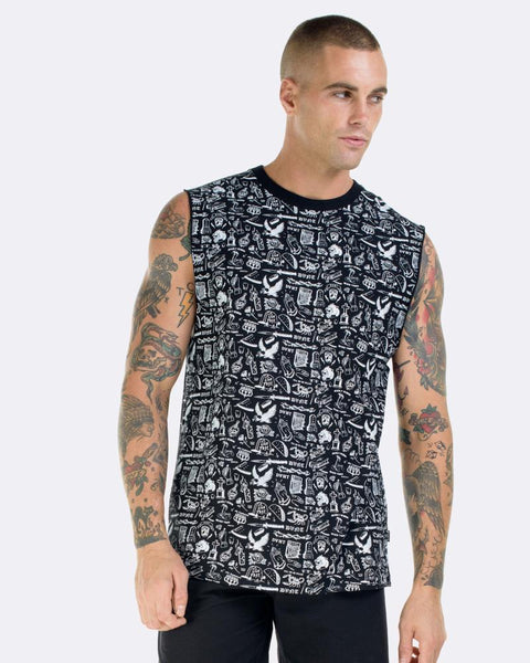 TATTOO FLASH TANK - BLACK