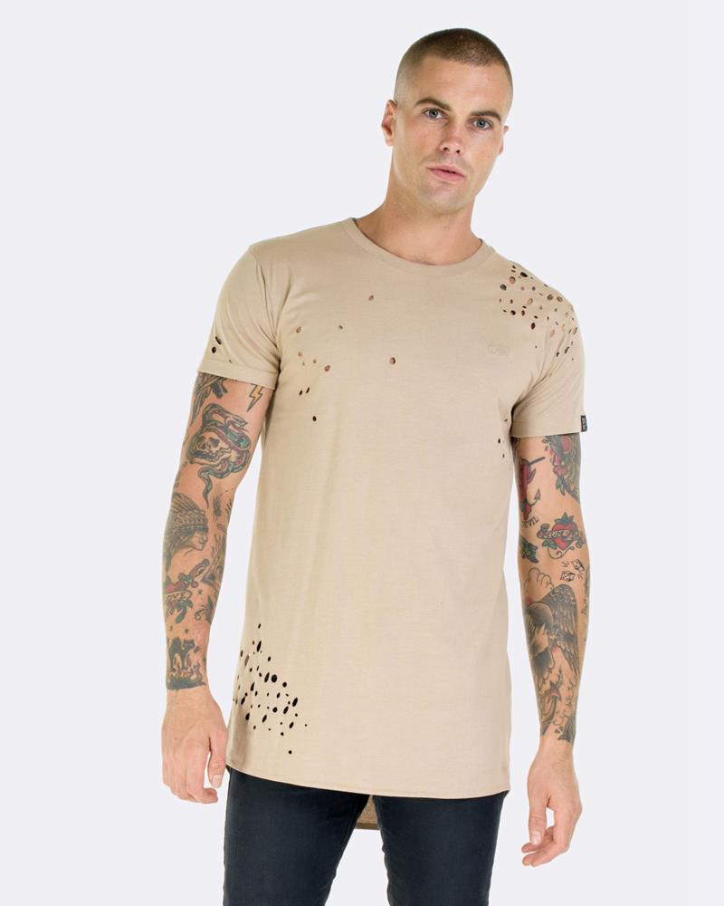 SHOTGUN DROP TEE - CAMEL